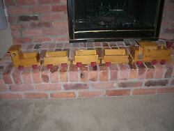 1940 Wooden Train Young Things Toys Pasadena Antique Train Set