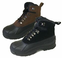 Brand New Men's Winter Boots Leather  Warm 6