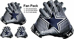 Dallas Cowboys Car Window Or Wall Vinyl Nfl Stickers Glove Decals -fan Pack Deal