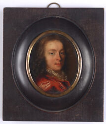 Portrait Of A Young Gentleman, High Quality Dutch Oil On Copper Miniature, 17c