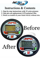 Seadoo Lcd Repair Kit A Info Gauge Center Display Fits 2-seater Models Listed