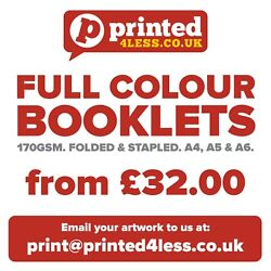 Booklets Printed Full Colour Price Lists Menus Brochures Magazines 170gsm A4 A5