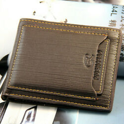 Fashion Men#x27;s Bifold Leather Wallet ID Credit Card Holder Billfold Purse Clutch