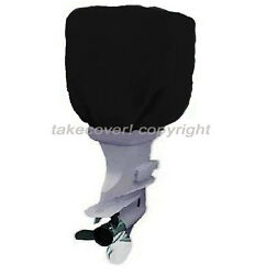 Outboard Boat Motor Engine Hood Cover Up To 25 Hp Black Universal Trailerable B0