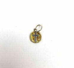Waxing Poetic Charm Camp Cross - Mixed Metal Brass And Sterling Silver - New