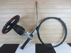 2004 Larson 230 Lxi Back Mount Steering Helm Wheel Teleflex Cables 17and039