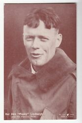 [51470] Old Exhibit Card Pin-up Captain Charles Lindbergh Our Own Plucky