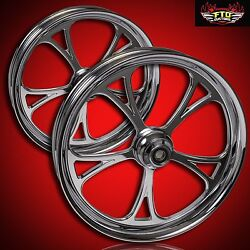 Ftd Customs Harley Davidson Chrome Wheel And Tire Package Cyclone