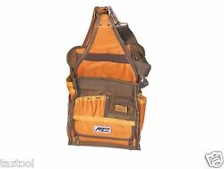 28 Pockets Electrician's Canvas Tool Pouch Heavy Duty Tool Bag W/ Strap Electric