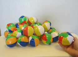 6 NEW MINI BEACH BALLS MULTI COLORED 5quot; INFLATABLE POOL BEACHBALL PARTY FAVORS $6.75