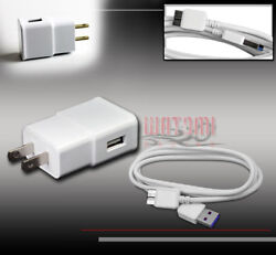 100x 2a Power Wall Adapter+6ft Micro Usb 3.0 Data Cables White Galaxy S5 Note 3