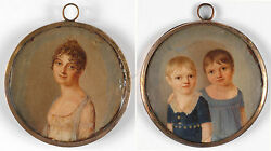 C. Frederick Active In Early 19th Century, Double-sided Miniature, 1803