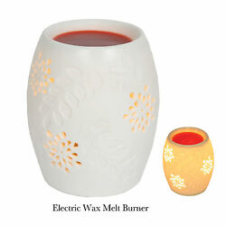 Village Candle White Electric Wax Melt Oil Burner Great For Yankee Tarts Chips