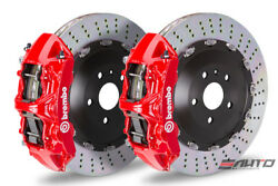 Brembo Front GT Brake 6pot Caliper Red 405x34 Drill Rotor BMW F80 M3 F82 M4