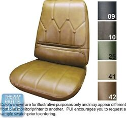 71-72 Riviera Dk Green Front Bucket Seat Cover Hardtop Rear Headrest Cover Pui