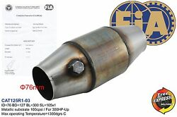 Fia Approved 5 Catalytic Converter 100cpsi For Group A Race Cars / Inlet 3
