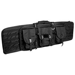 Large Tactical Rifle Case Security Padded Gun Bag Molle Airsoft Shooting Black