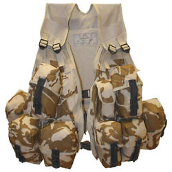 Army Tactical Infantry Assault Vest With Spanish Clips British Dpm Desert Camo