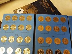 Volume 2 Pos A Complete Set Pandd 2012-2016 Presidential 1 Gold Dollar 38 Coins