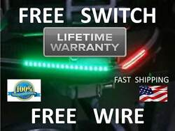 Double Bright --- Boat Bow Led Navigation Kit - Red And Green Pontoon Fishing Aa