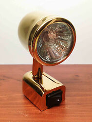 Rv Marine Solid Polished Brass Tin Plated Reading Xenon Light Countoured Design