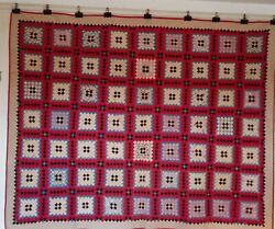 Postage Stamp Quilt. Cottons. From South Carolina C.1910-20 Single 66 By 60