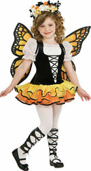 Morris Costumes Girls Monarch Butterfly Child Small 4-6. RU883665SM