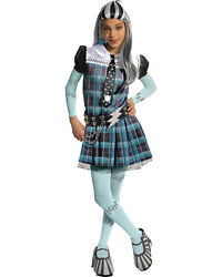 Morris Costumes Girls Monster High Frankie Stein Child Deluxe Large. RU884900LG