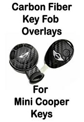 Mini Cooper Carbon Fiber Key Overlay Sticker Decal - Cover Up Your Old Key