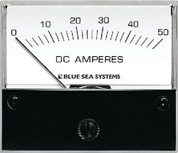 New Dc Analog Meters Blue Sea Systems 8022 Ammeter And Shunt 0-50a Dc