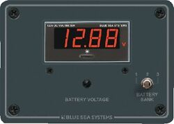 New Dc Digital Voltmeter Panel Blue Sea Systems 8051 5-1/4 W X 3-3/4 H