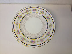 Antique Early 20th Century Royal Doulton Set Of 12 Plates W/ Floral And Gold Dec.