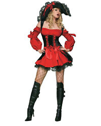 Morris Costumes Women's Sexy Vixen Pirate High Seas Wench Costume M. UA83157MD