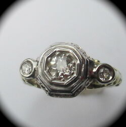 Antique Vintage Engagement Ring Gold And Diamonds