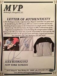 Game Used Alex Rodriguez 2007 Game Used Shirt Signed Mvp Authenticated -mvp Yr