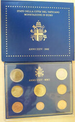 Vatican Official Euro Coin Set Bu 2002 From 1 Cent To 2 Euro
