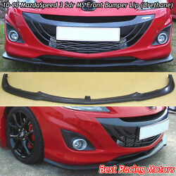 Ms Style Front Bumper Lip Urethane Fits 10-13 Mazda Mazdaspeed 3 5dr