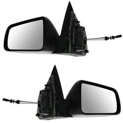 08-11 Focus Manual Remote Cable Black Non-fold Mirror Left And Right Side Pair Set