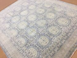 8 X 10 Gray Blue Ziegler Oriental Area Rug Hand Knotted Wool All Over