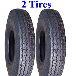 Two Trailer Tires 4.80-12 480-12 480x12 4.80x12 Boat Camper Deestone D901 6ply