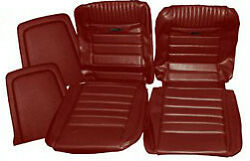 Ford Mustang Deluxe Pony Seat Trim Kit Dark Red 64 65 66 1965 1966 Convertible