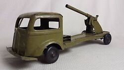 Awesome Rare Pressed Steel Military Artillery Truck Wind-up Toy Kingsbury 1920s
