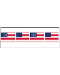 Morris Costumes Party Supplies Patriotic American Flag Party Tape. BG66134