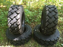 4 HD 14-17.5 Carlisle Ultra Guard MX Skid Steer Tires 14X17.5-14 PLY-Made in USA