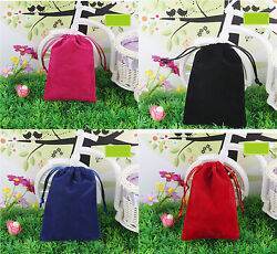 10 pcs Large 7.5quot;x10quot; Velvet Bags Jewelry Wedding Party Gift Drawstring Pouches $13.99