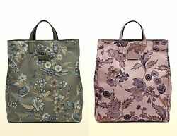 New Authentic Gucci Unisex Floral Fabric Top Handle Tote Bag 341739