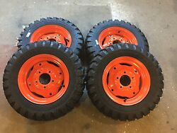 4-5.70-12 Carlisle Trac Chief Skid Steer Tires/wheels For Bobcat 310, 371 And 443