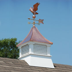 Accentua Olympia Cupola With Eagle Weathervane, 24 In. Square, 62 In. High