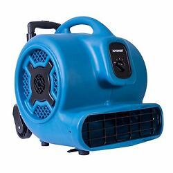 Xpower P-830h 1 Hp 3600 Cfm Air Mover Carpet Dryer Fan Blower W/ Handle And Wheels