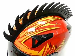 Stick-on Angle Mohawk Spikes Strip For Motorcycle Bike Helmets